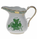"""Herend Chinese Bouquet Green Creamer  (6 Oz) 3.5""""H"""