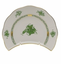 """Herend Chinese Bouquet Green Crescent Salad  7.25""""L X 5""""W"""