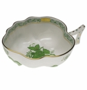 """Herend Chinese Bouquet Green Deep Leaf Dish  1.5""""H"""