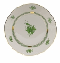 """Herend Chinese Bouquet Green Dinner Plate  10.5""""D"""