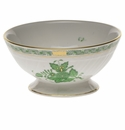 """Herend Chinese Bouquet Green Footed Bowl 5""""D X 2.5""""H"""