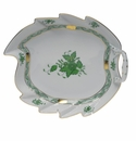 """Herend Chinese Bouquet Green Leaf Dish  9.5""""L"""