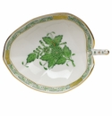 """Herend Chinese Bouquet Green Leaf Tray  4.5""""L X 3""""W"""