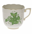 Herend Chinese Bouquet Green Mocha Cup  (4 Oz)