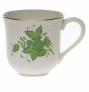 """Herend Chinese Bouquet Green Mug  (10 Oz) 3.5""""H"""