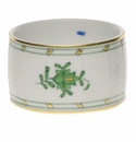 """Herend Chinese Bouquet Green Napkin Ring  2.25""""D"""