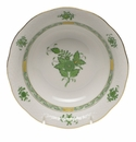 """Herend Chinese Bouquet Green Oatmeal Bowl  6.5""""D"""