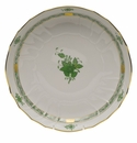 """Herend Chinese Bouquet Green Open Vegetable Bowl  10.5""""D"""