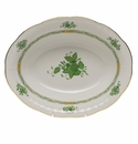"""Herend Chinese Bouquet Green Oval Vegetable Dish  10""""L X 8""""W"""