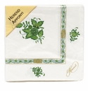 Herend Chinese Bouquet Green Paper Napkins Pack Of 20 Green