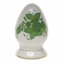 Herend Chinese Bouquet Green Pepper Shaker Single Hole  2.5