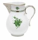 """Herend Chinese Bouquet Green Pitcher (60 Oz) 7.75""""H"""