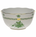 """Herend Chinese Bouquet Green Round Bowl  (3.5 Pt) 7.5""""D"""
