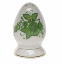 """Herend Chinese Bouquet Green Salt Shaker Multi Hole  2.5""""H"""