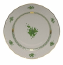 """Herend Chinese Bouquet Green Service Plate  11""""D"""