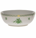 """Herend Chinese Bouquet Green Small Bowl 3""""H X 5.75""""D"""