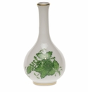 """Herend Chinese Bouquet Green Small Bud Vase 3.5""""H"""