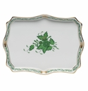 """Herend Chinese Bouquet Green Small Tray 7.5""""L X 5.5""""W"""