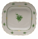 """Herend Chinese Bouquet Green Square Fruit Dish  11""""Sq"""