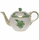 """Herend Chinese Bouquet Green Tea Pot With Butterfly (12 Oz) 4"""""""