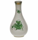 """Herend Chinese Bouquet Green Vase  6.5""""H"""