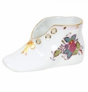 """Herend Chinese Bouquet Multicolor Baby Shoe  4.5""""L X 2.75""""H"""