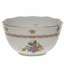 """Herend Chinese Bouquet Multicolor Round Bowl  (3.5 Pt) 7.5""""D"""