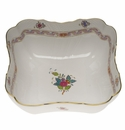 """Herend Chinese Bouquet Multicolor Square Salad Bowl  10""""Sq"""