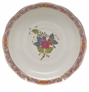"""Herend Chinese Bouquet Multicolor Tea Saucer  6""""D"""