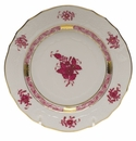 """Herend Chinese Bouquet Raspberry Bread & Butter Plate  6""""D"""
