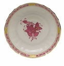 """Herend Chinese Bouquet Raspberry Canton Saucer  5.5""""D"""