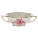 Herend Chinese Bouquet Raspberry Cream Soup Cup  (8 Oz)