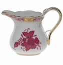 """Herend Chinese Bouquet Raspberry Creamer  (4 Oz) 3.25""""H"""