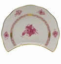 """Herend Chinese Bouquet Raspberry Crescent Salad  7.25""""L X 5""""W"""