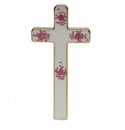"""Herend Chinese Bouquet Raspberry Cross 4.75""""L X 2.25""""W"""