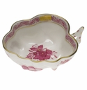 """Herend Chinese Bouquet Raspberry Deep Leaf Dish  4""""L X 3""""W"""