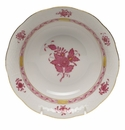"""Herend Chinese Bouquet Raspberry Oatmeal Bowl  6.5""""D"""