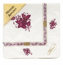 Herend Chinese Bouquet Raspberry Paper Napkins Pack Of 20