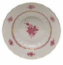 """Herend Chinese Bouquet Raspberry Rim Soup  9.5""""D"""
