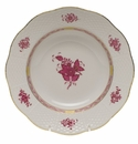 """Herend Chinese Bouquet Raspberry Rim Soup Plate  8""""D"""