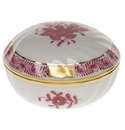 """Herend Chinese Bouquet Raspberry Ring Box  2.75""""D"""