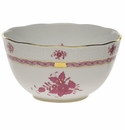 """Herend Chinese Bouquet Raspberry Round Bowl  (3.5 Pt) 7.5""""D"""