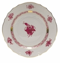 """Herend Chinese Bouquet Raspberry Salad Plate  7.5""""D"""