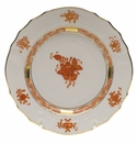"""Herend Chinese Bouquet Rust Bread & Butter Plate  6""""D"""