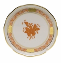 """Herend Chinese Bouquet Rust Coaster 4""""D"""