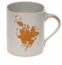 """Herend Chinese Bouquet Rust Coffee Mug (16 Oz) 4""""H"""
