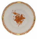 """Herend Chinese Bouquet Rust Covered Bouillon Saucer  6.5""""D"""
