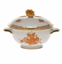 Herend Chinese Bouquet Rust Covered Cup With Rose Lid - Kit (8 Oz