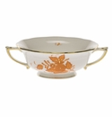 Herend Chinese Bouquet Rust Cream Soup Cup  (8 Oz)