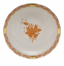 """Herend Chinese Bouquet Rust Cream Soup Stand  7.25""""D"""